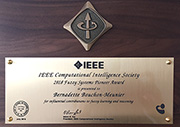"Bernadette Bouchon-Meunier récompensée par un IEEE CIS Fuzzy Systems Pioneer Award ""for influential contributions to fuzzy learning and reasoning""."